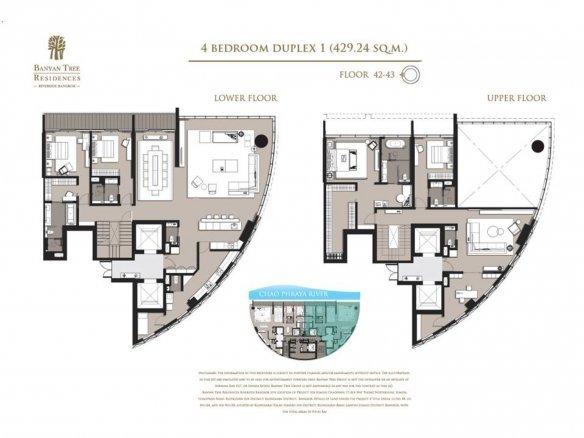 Banyan Tree Residence Riverside Penthouse Duplex Condo For Sale In Bangkok Thailand Property
