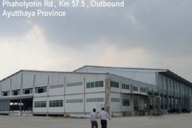 Warehouse and factory for rent in Phra Nakhon Si Ayutthaya