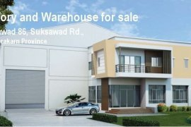Warehouse and factory for sale in Samut Prakan