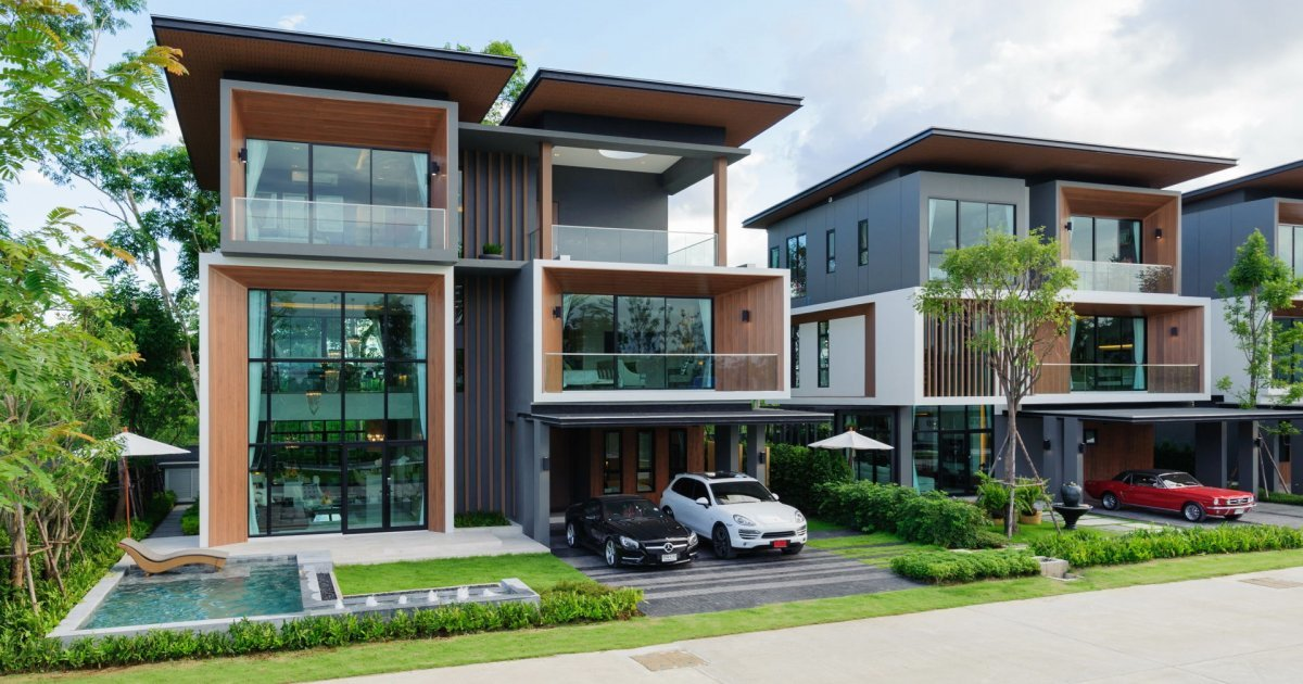 Akaluck sansai chiang mai 15 houses for sale and rent for Minimalist house thailand